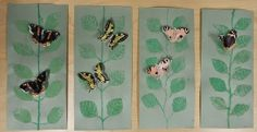 Anna idean kiertää!: Ensimmäiset perhostyöt valmiina