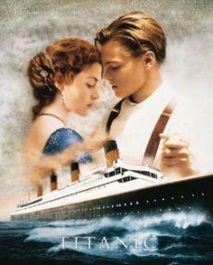Titanic Movie Leonardo DiCaprio Kate Winslet Poster Print Mini Poster