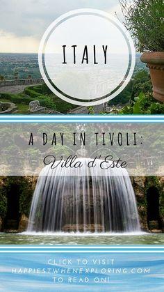 A Day in Tivoli, Villa d'Este at happiestwhenexploring . com // Explore the majestic gardens of the Renaissance (UNESCO World Heritage Site) // photo by Max Goldberg via CC