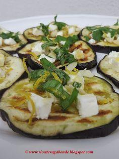 ricette vagabonde: Melanzane alla cretese, con feta, miele, mandorle e buccia di…