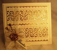 PartiCraft (Participate In Craft): Gilded Lace Panel