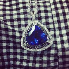 Love this gorgeous Tanzanite pendant! What's YOUR favorite gemstone? www.simongjewelry.com