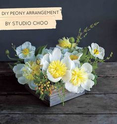 Peonies. The Flower Recipe Book from http://studiochoo.com | http://designsponge.com