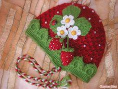 Free Strawberry Shortcake Crochet Hat.