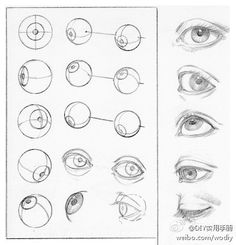 上学的时候我们老师可没有教我们这个方法,真是简单又好学, How to Draw Eyes,  Artist Study  for Art School Students, CAPI ::: Create Art Portfolio Ideas at milliande.com Art School Portfolio, Eyes Faces, Sketching , Anatomy , Art Teacher, GCSE, A level, IB, Human, People
