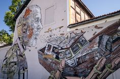 Pixel Pancho and Vhils collaboration