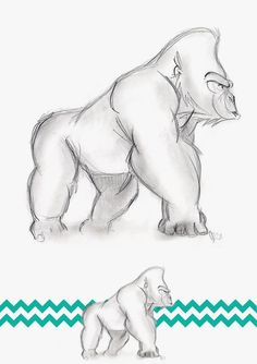 gorilla drawing - Google Search