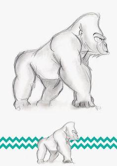 gorilla drawing - Google Search