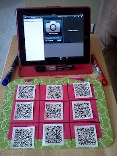 This shows how to use QR codes and an iPad in the classroom with students. The first example is QR tic tac toe. You scan the QR code and answer the question that comes up. School Classroom, Classroom Activities, Classroom Organization, Group Activities, Classroom Ideas, Teaching Technology, Educational Technology, Technology Tools, Assistive Technology