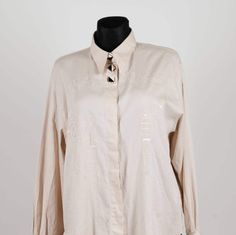 Blouse art deco embroidered pure cotton shirt by VilRaVintage