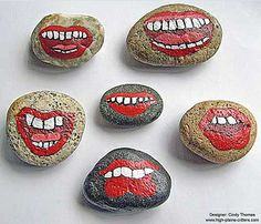 LOL Painted Rocks by Cindy Thomas by Painted Rocks by Cindy Thomas, via Flickr