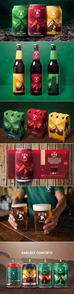 Explore The Great Outdoors With HighSparrow Beer | Dieline
