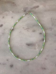 green seed bead choker Necklace on Mercari Seed Bead Jewelry, Bead Jewellery, Cute Jewelry, Jewelry Accessories, Seed Bead Necklace, Funky Jewelry, Green Necklace, Beaded Choker Necklace, Diy Necklace