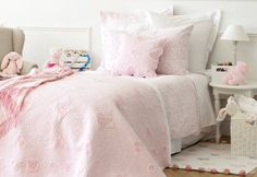 Embroidered Butterflies Decorative Quilt and Cushion Cover - Zara Home, Single Bedding Sets, Comforter Sets, Ashley Home, Collection 2017, My Ideal Home, Princess Room, Daughters Room, Duvet Cover Sets