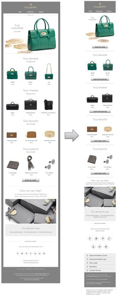 Responsive email design from Mulberry