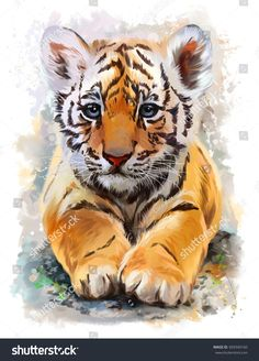 Kleiner Tiger Aquarell Ad Sponsored Tiger Aquarell p Watercolor Tiger, Tiger Painting, Watercolor Animals, Watercolor Lion, Simple Watercolor, Painting Abstract, Tiger Illustration, Watercolor Illustration, Tiger Drawing