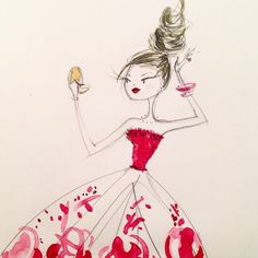 Saturday night glam. Anne Keenan Higgins illustration