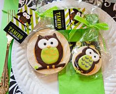 Owl themed baby shower - free printables