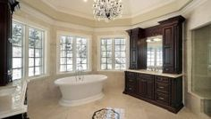 Start the new year by giving your master bathroom a face-lift. Here are eight current master bathroom trends to consider before you start your design. Luxury Master Bathrooms, Bathroom Design Luxury, Dream Bathrooms, Custom Bathrooms, Modern Bathrooms, Small Bathrooms, Home Design, Design Ideas, Design Styles