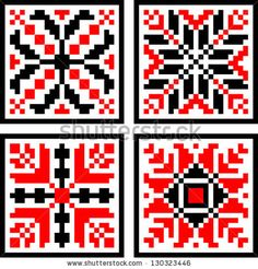 Romanian Geometrical  Folk Pattern by Ignia Andrei, via ShutterStock