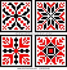 Romanian Geometrical  Folk Pattern by Ignia Andrei, via ShutterStock