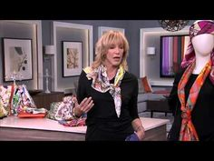 How To Tie a CORIEE Silk Scarf with Criss-Cross Knot - YouTube