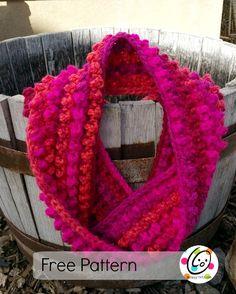 Jelly Bean Infinity Scarf - free crochet pattern by Heidi Yates / Snappy Tots. Crochet Scarf Easy, All Free Crochet, Learn To Crochet, Crochet Scarves, Crochet Shawl, Crochet Clothes, Crochet Stitches, Knit Crochet, Crochet Patterns