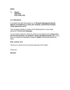 Lease non renewal letter sample bagnas letter of not renewing when a tenant misbehaves or causes complaints landlords can use this sample letter as a rental propertyproperty spiritdancerdesigns Gallery