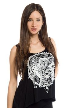 Mystical Memory Muscle Tank - Black from Tres Bien at Lucky 21 #getlucky21