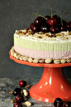 Cherry and Pistachio No Bake Cheesecake with Animal Cracker Crust Pistachio Cheesecake, No Bake Cheesecake, Cheesecake Recipes, No Bake Desserts, Just Desserts, Dessert Recipes, Animal Crackers, Let Them Eat Cake, Baking Recipes