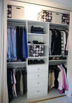 Closet Organization. Wish I had the closet size.