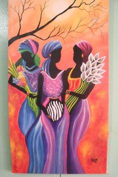 . African Artwork, African Art Paintings, Art Afro, Caribbean Art, Black Art Pictures, Acrylic Pouring Art, Africa Art, India Art, Mosaic Art