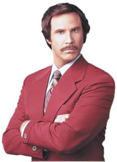 Ron Burgundy might be the best fictional anchorman of all time, but Will Ferrell actually studied sports broadcasting at the University of Southern California! Ron Burgundy, Will Ferrell, I Love To Laugh, Make Me Smile, Stay Classy San Diego, Funny Comedians, Music Tv, Funny People, Funny Guys