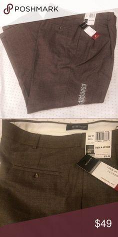 Dockers taupe wool flannel dress slacks Original fit. Nice fabric. Cuffs. NWT. Size 38x32 Dockers Pants Dress