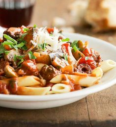 Pasta with Eggplant Sauce from the Better Homes and Gardens Must-Have Recipes App