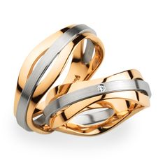 Christian Bauer Platinum and Rose Gold Bands... these are just striking... love them!