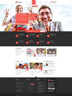 Mafioso PSD Template  #psd #website #template #flat #flatdesign #design #webdesign #photoshop #premium #header #footer #slider