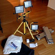 Photography Lighting Tips  : Putting Together a Budget DIY Lighting System for under US$75