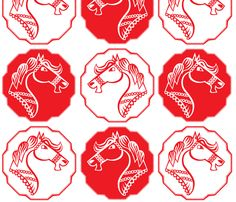Year of the Horse fabric by anat_om on Spoonflower - custom fabric