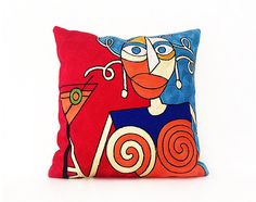 Art Suzani Embroidered Cushion Pillow Covers Hand Embroidered