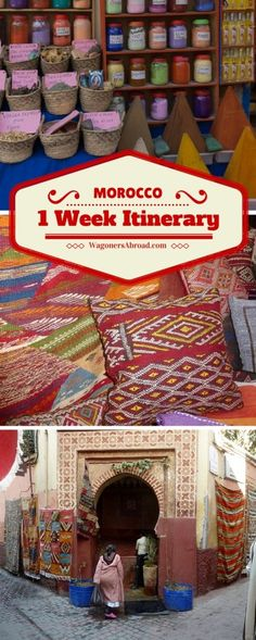 1 Week Itinerary In Morocco - What happens when you plan 1 Week In Morocco and Mother Nature has something else in mind? A change in plans and how we go with the flow.  Read more on WagonersAbroad.com