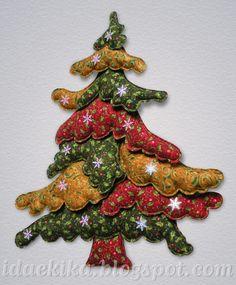 Árvore de Natal em patchwork 3D / Christmas