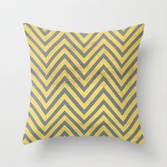YELLOW Throw Pillow by Allyson Johnson - $20.00