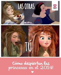como despiertan las princesas en 2014