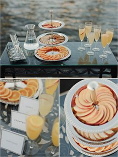Mimosa bar idea. If bridal shower is in the morning