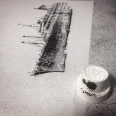 have-a-nice-grey:  . late THE-YOUNG.NET #theYOUNG #haveanicegrey #printingwithcans #bielefeld #germany #test #wip #aerosol #spraypaint #stencils #stencilism #streetart #urbanart #bandw #noiretblanc #cap #nozzle #icantspeakemoji #miniature #ahoi