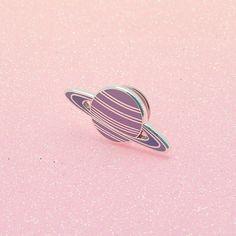 Pink Planet émail broches / / espace broche émail / / système solaire pin badge / / EP037