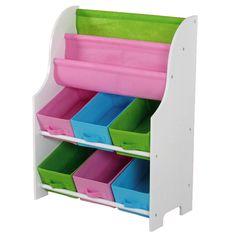 Kids' Large Book Holder And Storage Shelf In Multicolor.