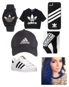 """Adidas for days"" by journeycarothers on Polyvore featuring adidas"