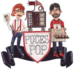 Puces Pop poster by sara guindon